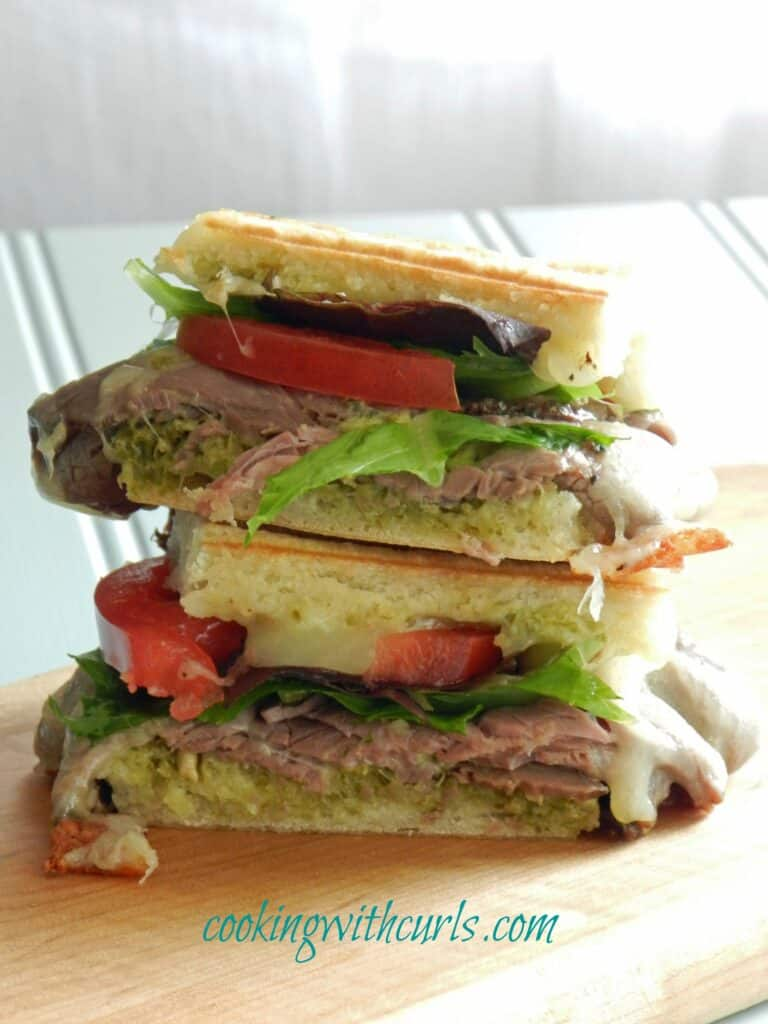 roast beef pesto panini by cookingwithcurls WM
