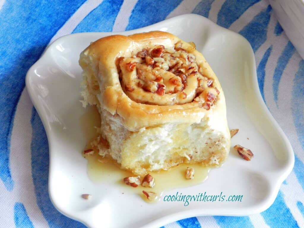 Baklava Sourdough Cinnamon Roll from cookingwithcurls.com