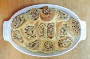 Baklava Sourdough Cinnamon Rolls Baked cookingwithcurls.com