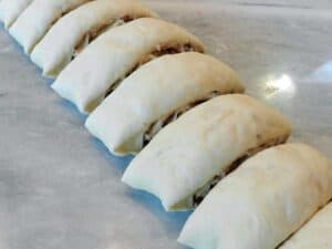 Baklava Sourdough Cinnamon Rolls Cut cookingwithcurls.com