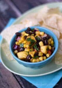 Black Bean & Mango Salsa | cookingwithcurls.com
