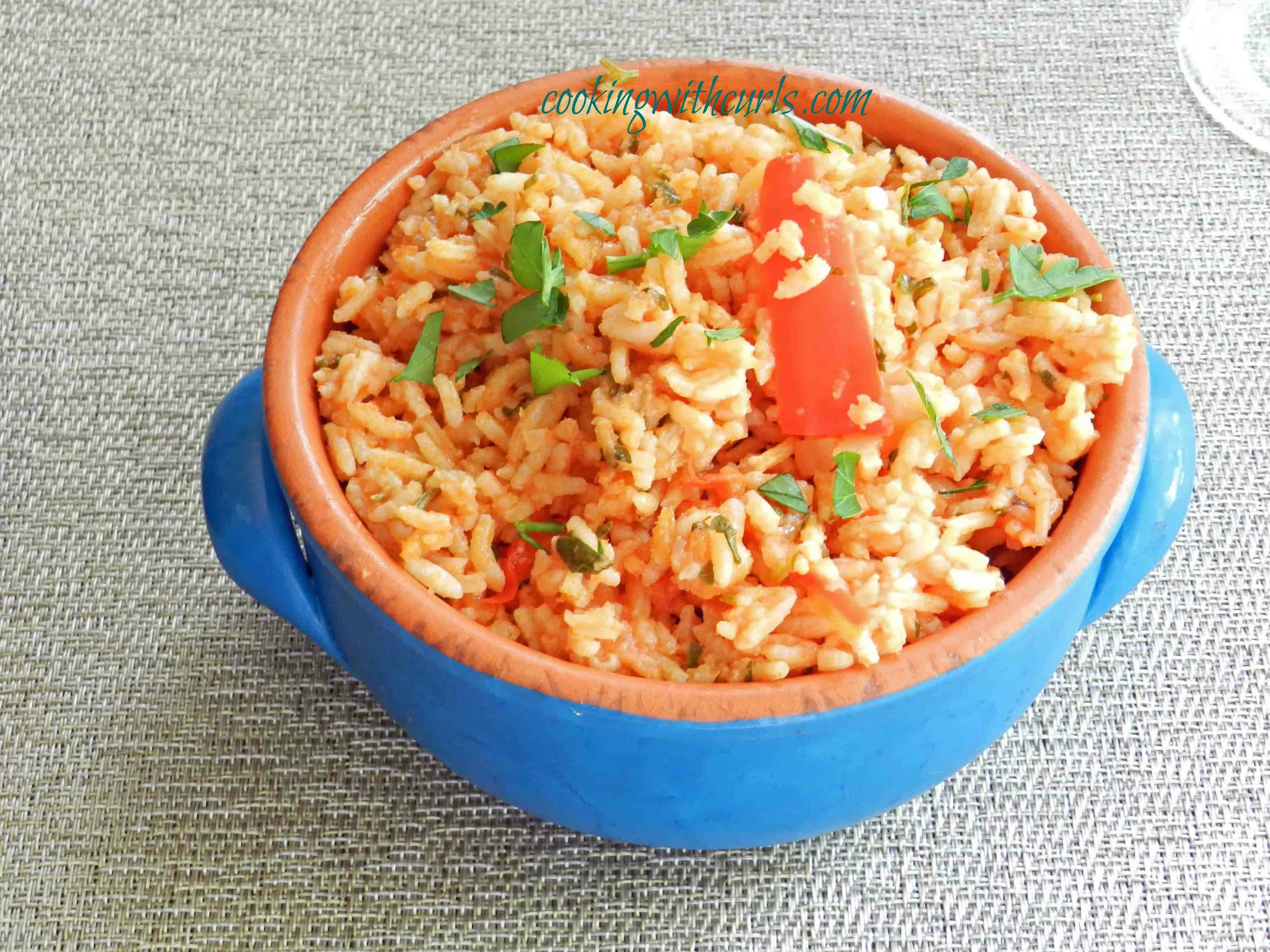 Tomato Pilaf Cooking with Astrology from cookingwithcurls.com