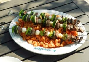 Lamb and Vegetable Kabobs