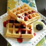 Lemon Belgian Waffles with Blackberry Syrup & another announcement