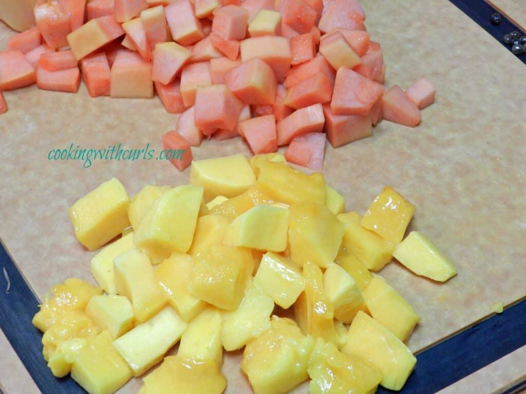 Papaya Mango Parfait from cookingwithcurls.com