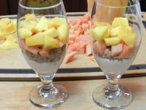 Papaya Mango Parfait cookingwithcurls.com