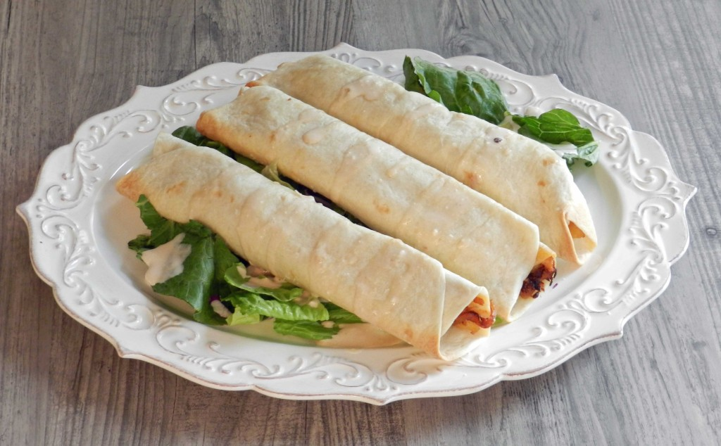 Peachy Chicken Taquitos from cookingwithcurls.com