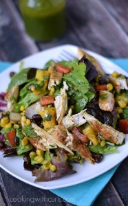 Southwest Chicken Salad w/Cilantro Lime Dressing | cookingwithcurls.com