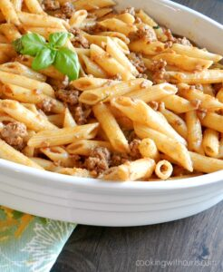 Stove Top Pastitsio is a faster version of the traditional Greek version! cookingwithcurls.com