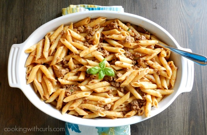 Stove Top Pastitsio is a simplified version of a Greek classic! cookingwithcurls.com