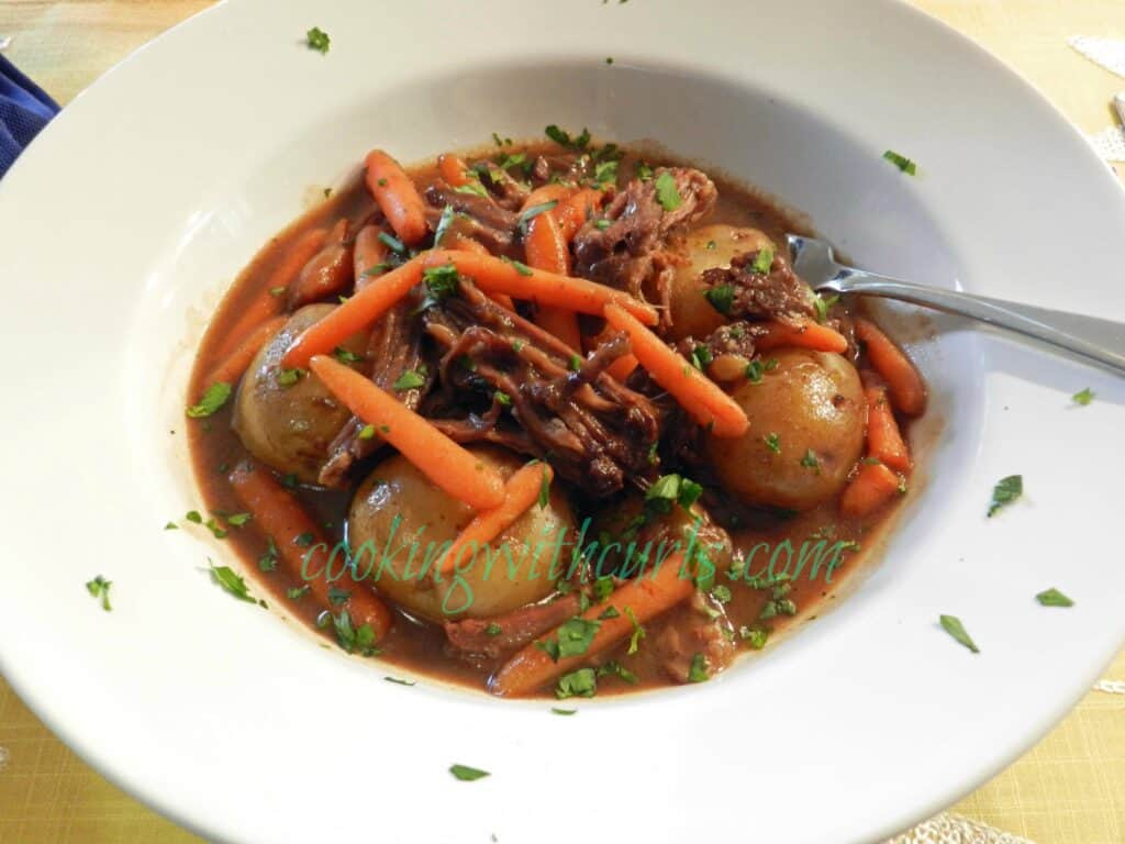 Guinness Pot Roast Cooking with Astrology from cookingwithcurls.com