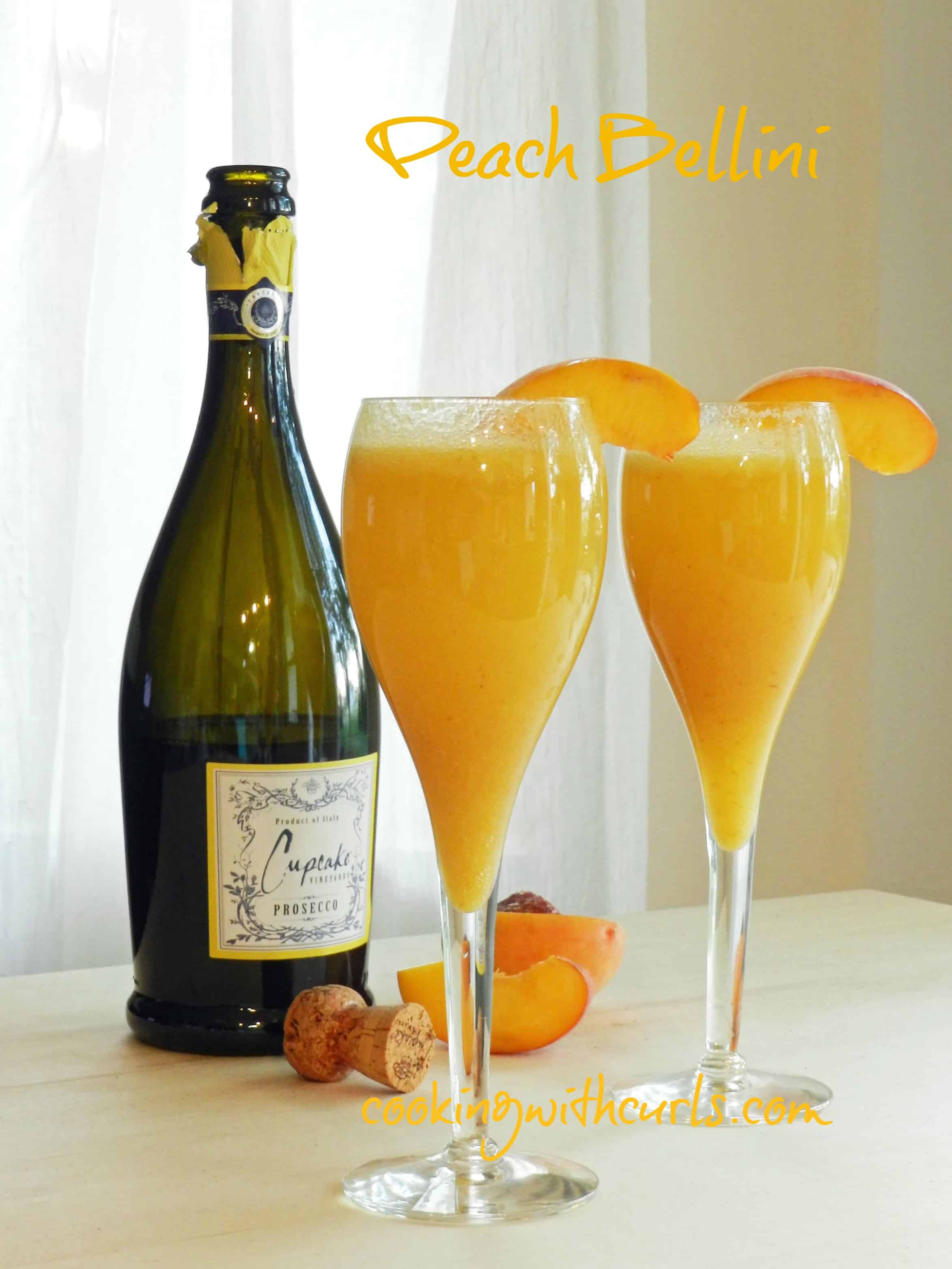 Peach Bellini & leftovers - Cooking With Curls