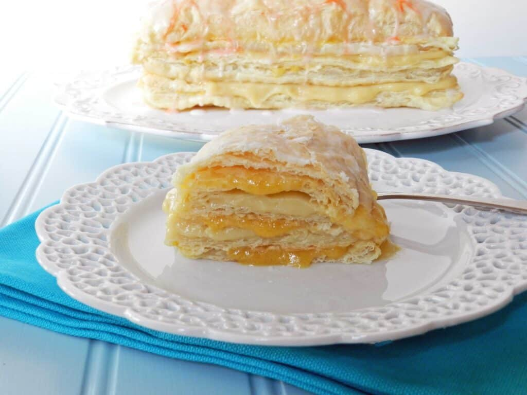 Peaches and Cream Napoleons by cookingwithcurls.com