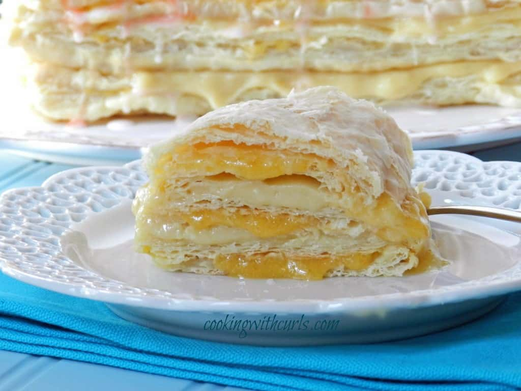 Peaches and Cream Napoleons from cookingwithcurls.com