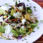 Southwest Chicken Salad Spring | cookingwithcurls.com