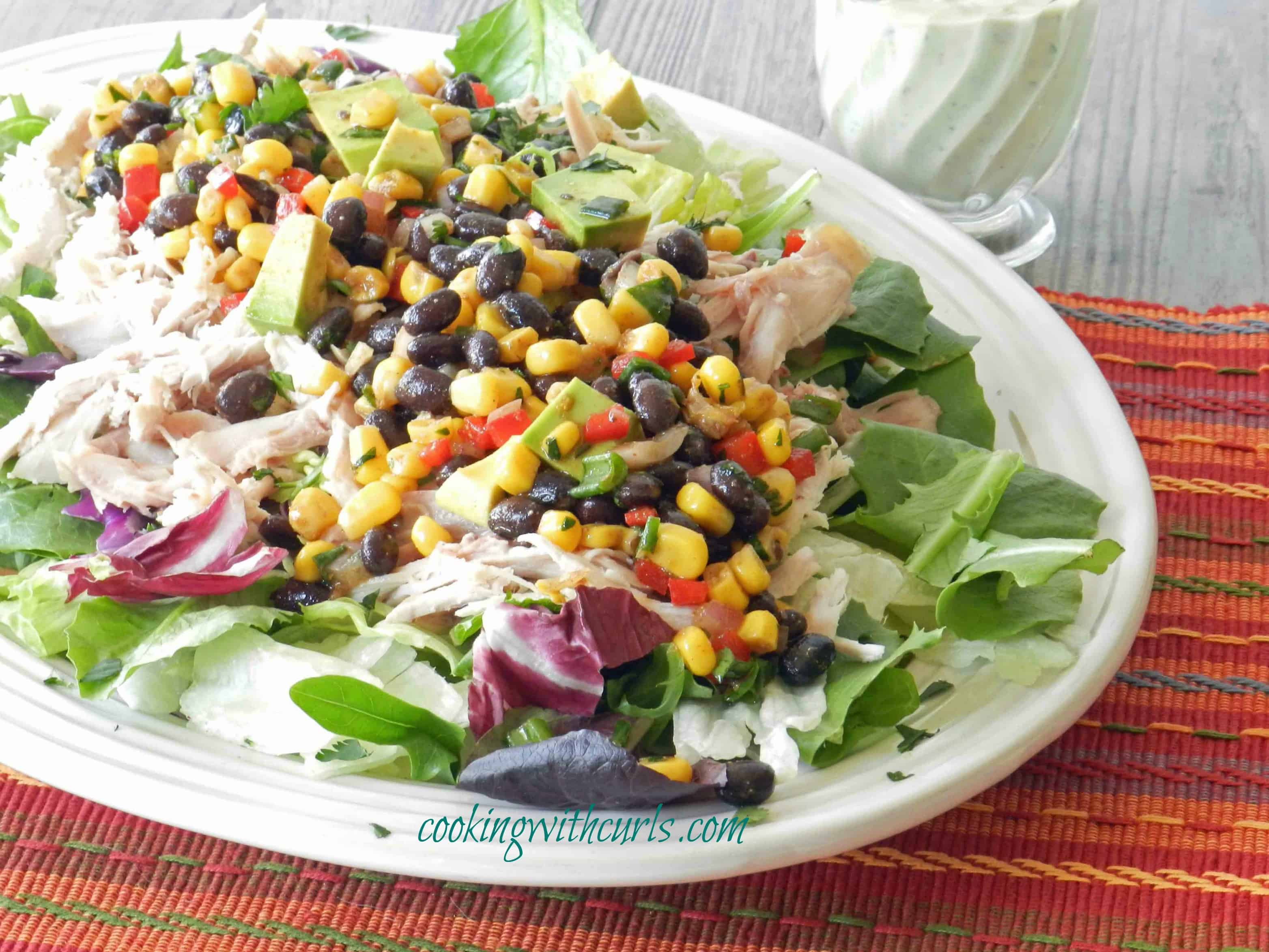 Southwest Chicken Salad Spring & organization - Cooking With Curls