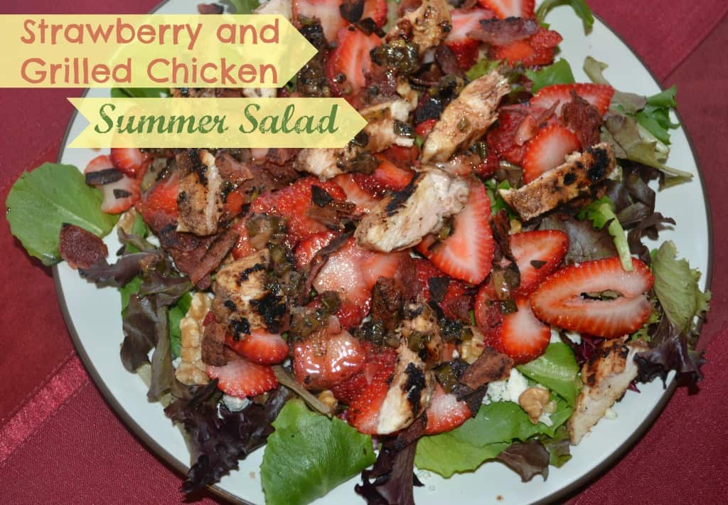 Strawberry and Grilled Chicken Summer Salad