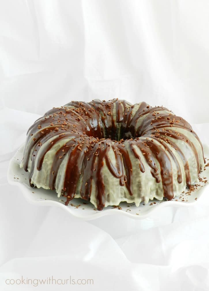 This Peppermint Mocha Cocktail Cake combines the flavors of my favorite espresso drink, with an added kick to make it extra special cookingwithcurls.com