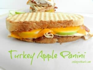Turkey Apple Panini by cookingwithcurls.com