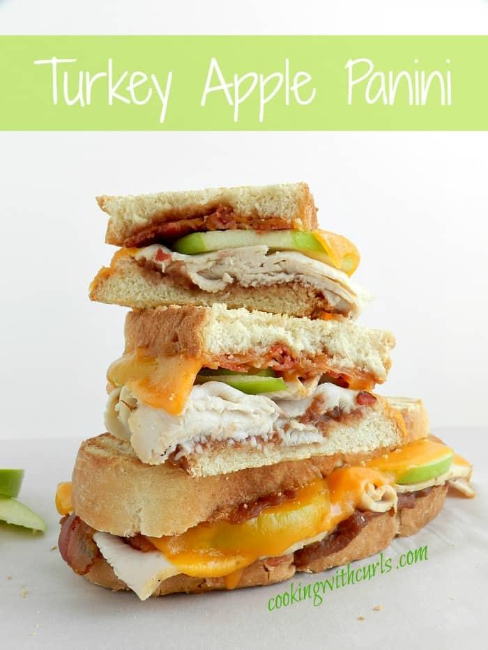 Turkey Apple Panini cookingwithcurls.com