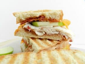 Turkey Apple Panini from cookingwithcurls.com