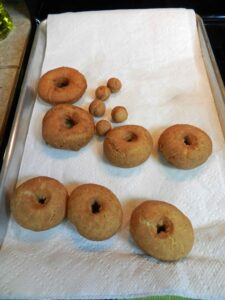 Apple Ale Doughnuts drain cookingwithcurls.com