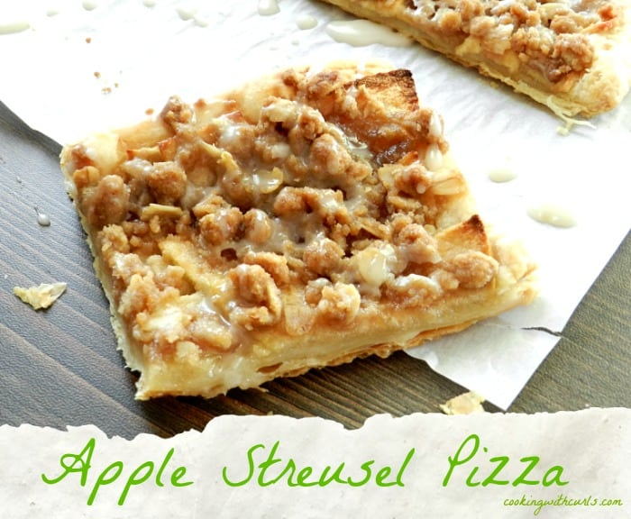 Apple Streusel Pizza by cookingwithcurls.com