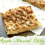 Apple Streusel Pizza & dessert challenge