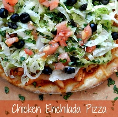 Chicken Enchilada Pizza & surviving