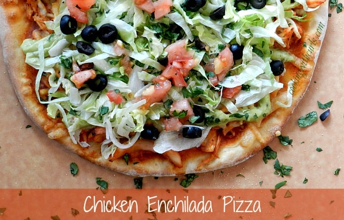 Chicken Enchilada Pizza by cookingwithcurls.com