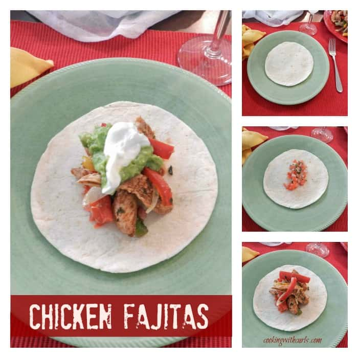 Chicken Fajitas Collage cookingwithcurls.com