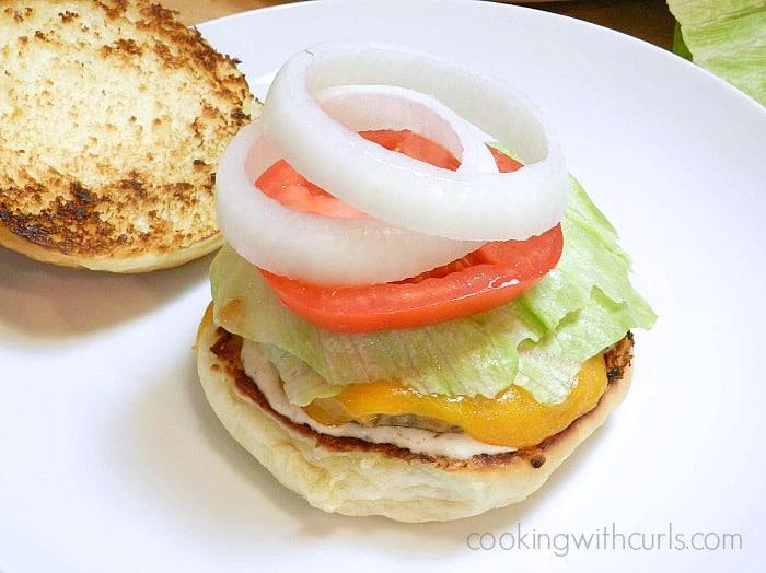 Classic Diner Burgers veggies cookingwithcurls