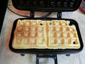 Lemon Belgian Waffles cooked cookingwithcurls.com