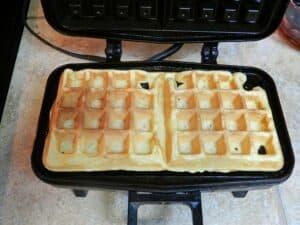 Lemon Belgian Waffles cooked cookingwithcurls.com