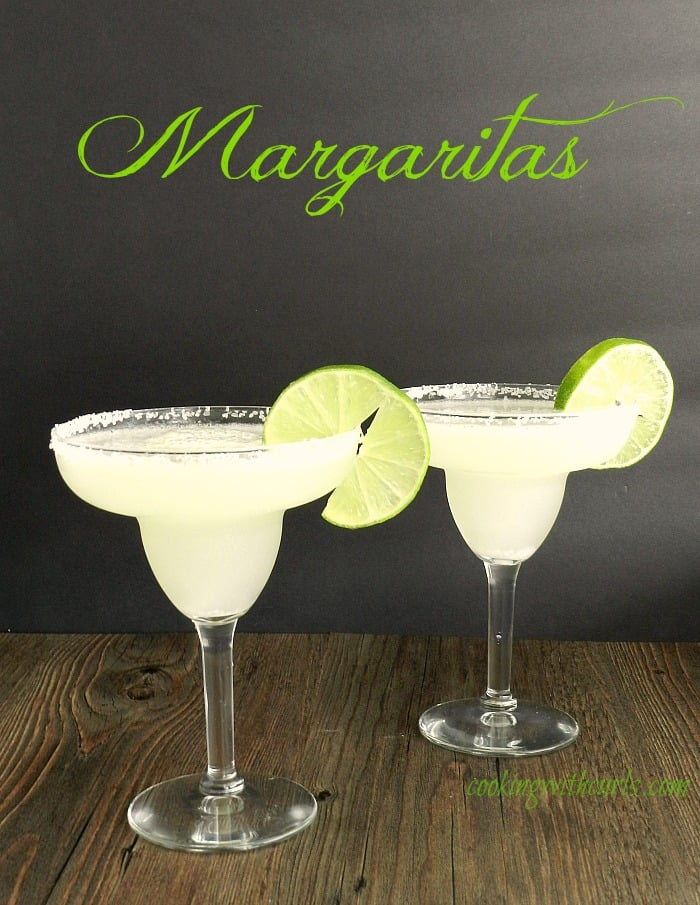 This is probably the fourth or fifth recipe for classic Margaritas ...
