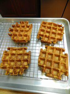 Pumpkin Waffles rack cookingwithcurls.com