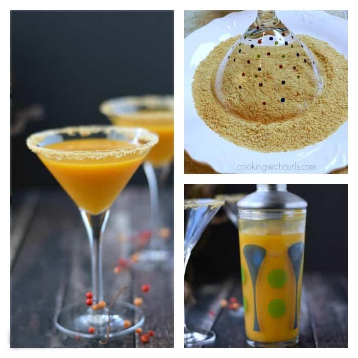 Pumpkintini Collage | cookingwithcurls.com