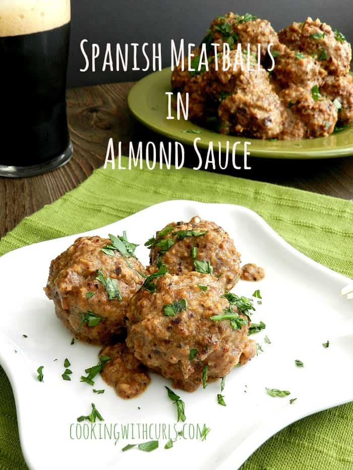 Spanish Meatballs in Almond Sauce cookingiwthcurls.com