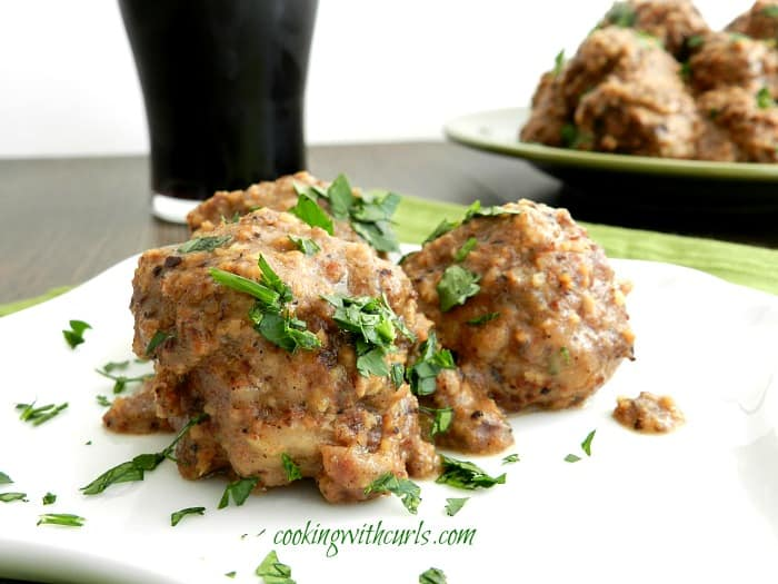 Spanish Meatballs in Almond Sauce by cookingwithcurls.com