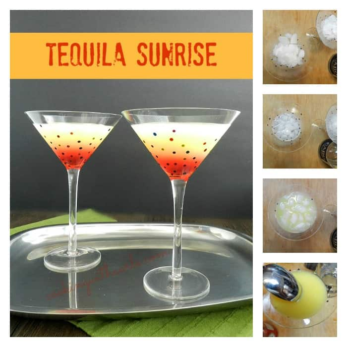 Tequila Sunrise Collage by cookingwithcurls.com