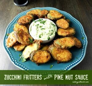 Zucchini Fritters with Pine Nut Sauce