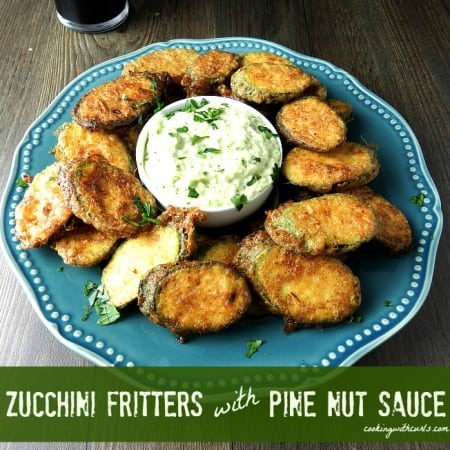 Zucchini Fritters with Pine Nut Sauce & cooking with astrology