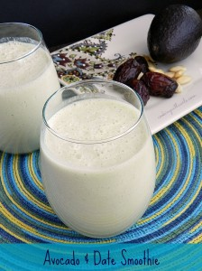 Avocado and Date Smoothie