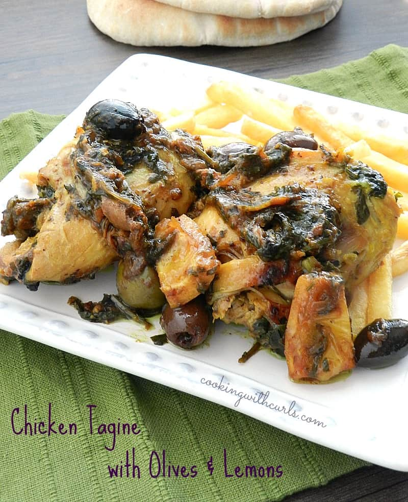 Chicken Tagine with Olives and Lemons by cookingwithcurls.com