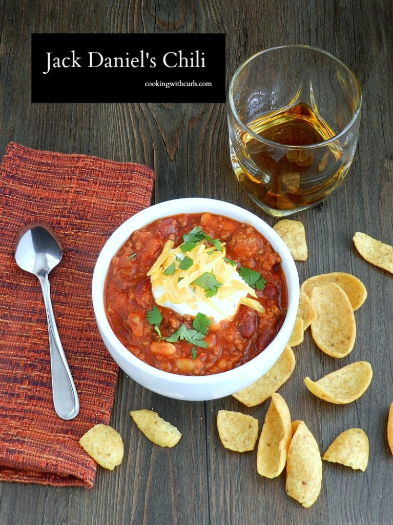 Jack Daniels Chili by cookingwithcurls.com