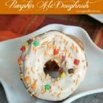 Pumpkin Ale Doughnuts with Cream Cheese Glaze & dessert challenge