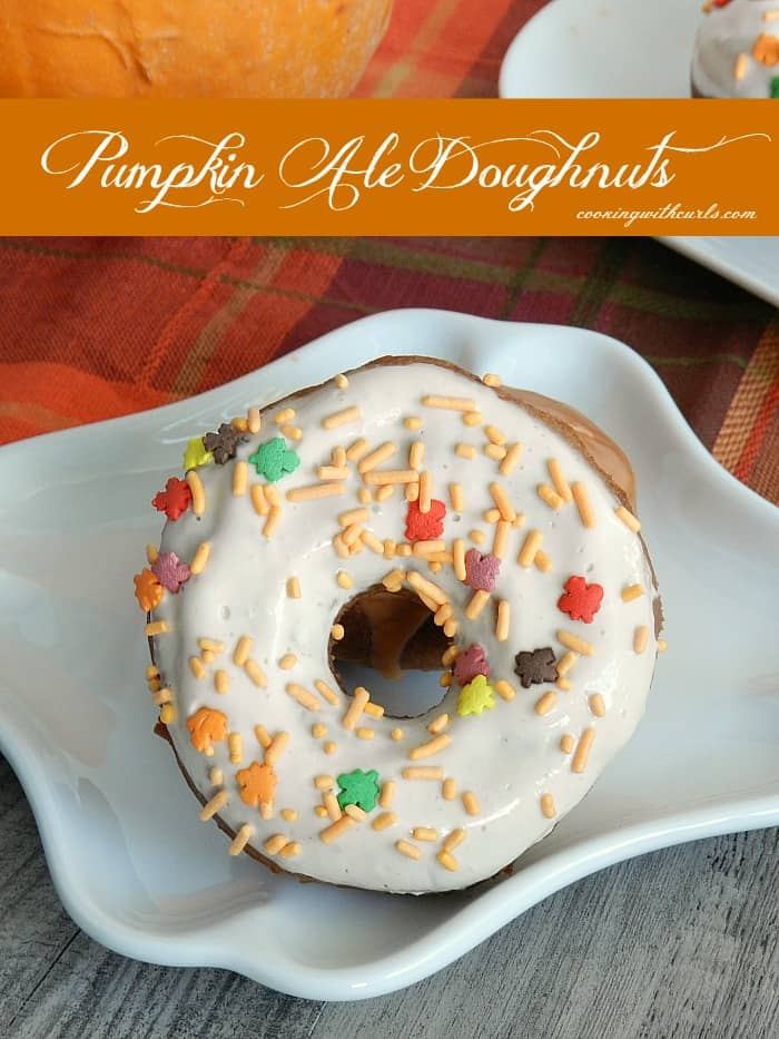 Pumpkin Ale Doughnuts by cookingwithcurls.com