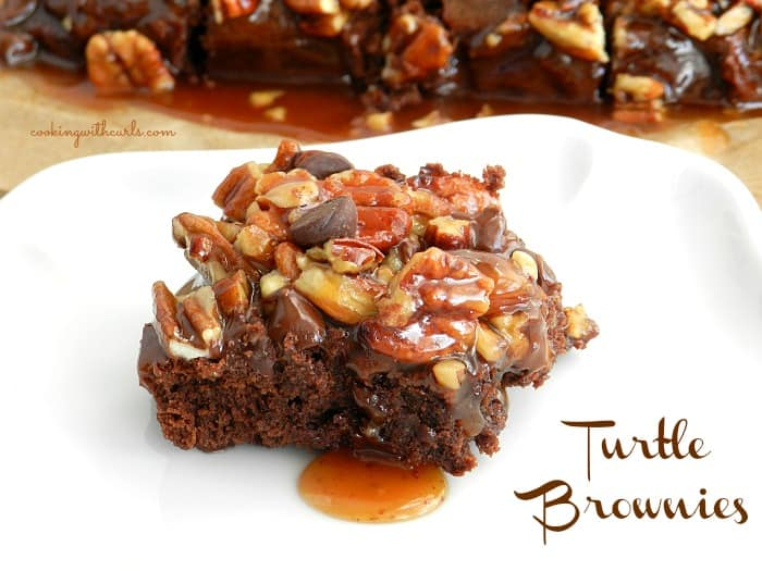 Turtle Brownies by cookingwithcurls.com
