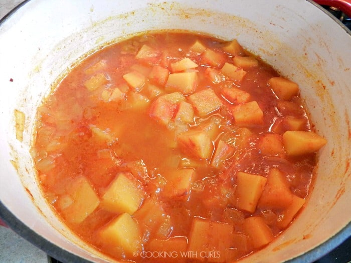 simmer the squash soup