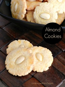 Almond Cookies by cookingwithcurls.com